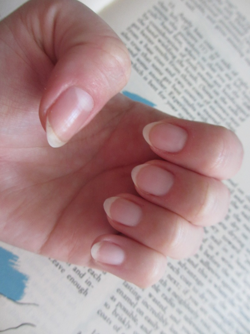 after removing the cuticle