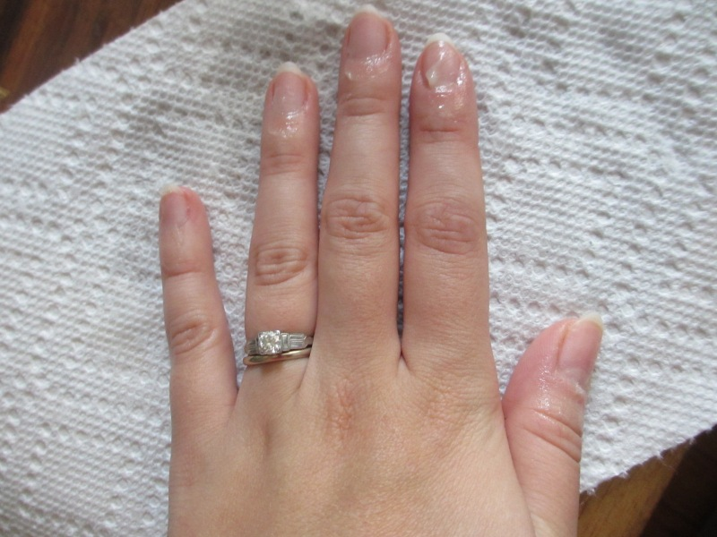 cuticles with hand salve