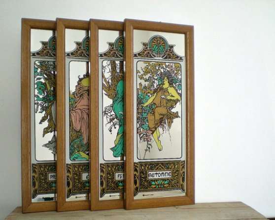 art nouveau wall hangings