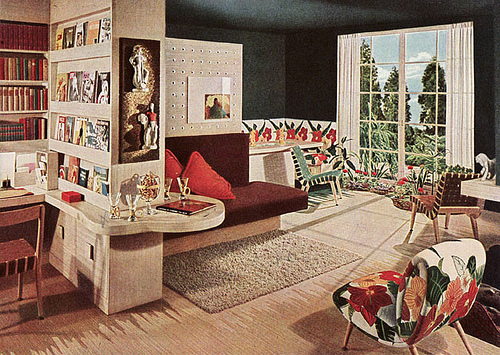 retro living room photo