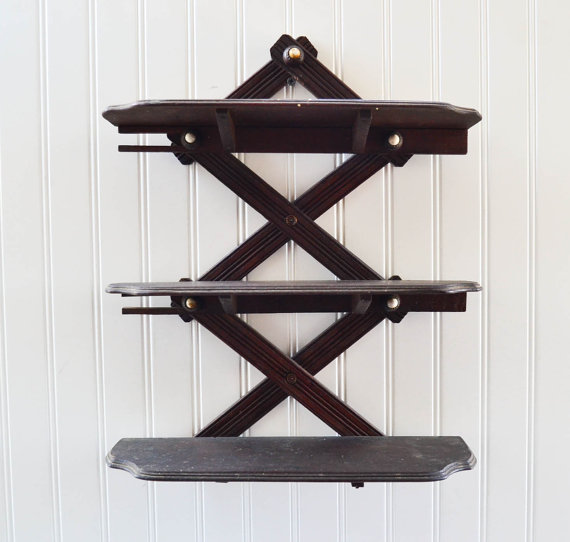 Antique Collapsable Wall Shelf