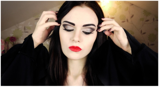 Morticia Addams Make up by Emma P