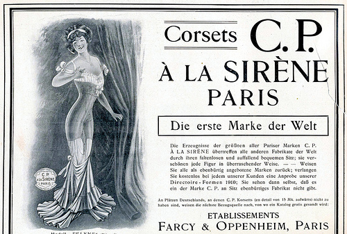 paris 1910 corset advert