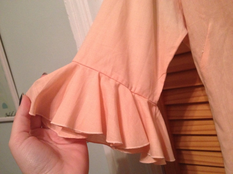peachy blouse sleeve detail