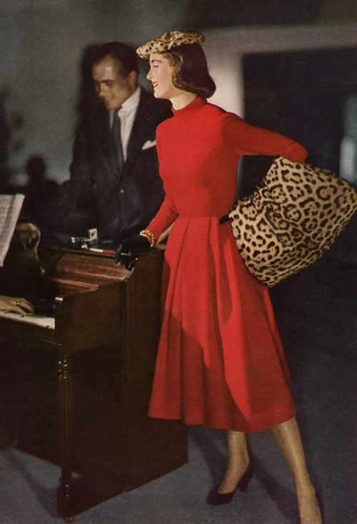 1950s Red and Leopard
