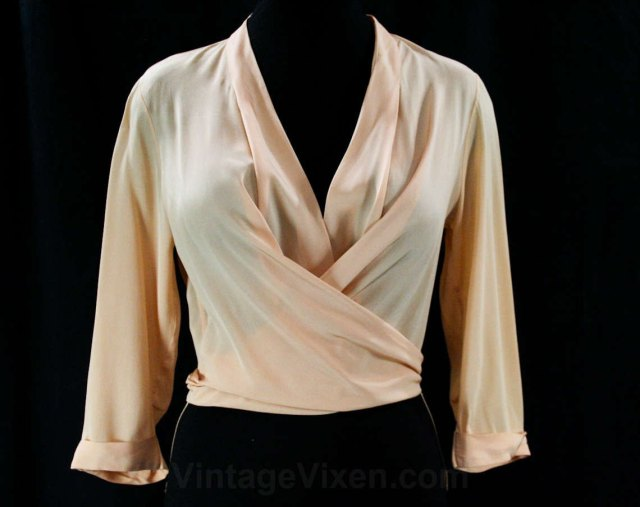 1950s glam blouse